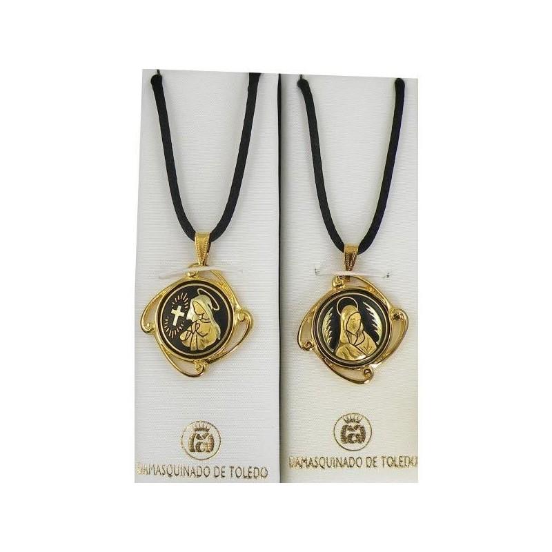 Damascene gold virgin mary pendant style 8224 1 aloadofball Choice Image