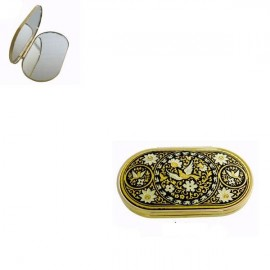 Damascene Gold Starling Compact Mirror