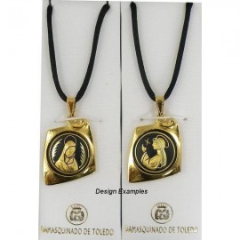 Damascene Gold Virgin Mary Kite Pendant