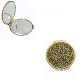 Damascene Gold Opulent Compact Mirror