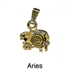 Aries Pendant-Damascene Zodiac Jewelry