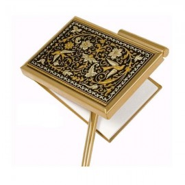 Damascene Gold Bird Pocket Notepad Agenda