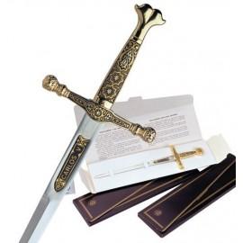 Damascus Charles V Sword Letter Opener