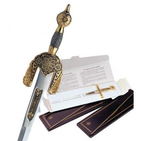 Damascus Boabdil Arabic Sword Letter Opener