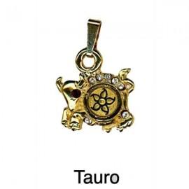 Taurus Pendant-Damascene Zodiac Jewelry