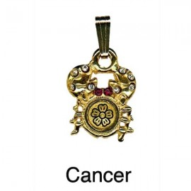 Cancer Pendant-Damascene Zodiac Jewelry