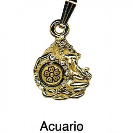 Aquarius Pendant-Damascene Zodiac Jewelry