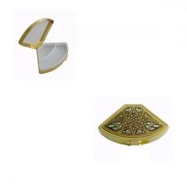 Damascene Gold Star Fan Pill Box