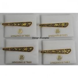 Damascene Gold Mens Tie Bar Bird