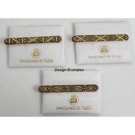 Damascene Gold Mens Tie Clip Geometric style 2600