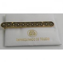 Damascene Gold Mens Tie Clip Star