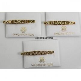Damascene Gold Mens Tie Clip Geometric style 2609