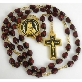Damascene Gold Jesus Rosary