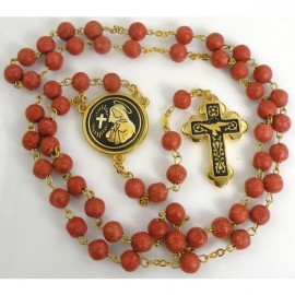 Damascene Gold Dove Communion Rosary