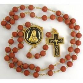 Damascene Gold Chalice Communion Rosary