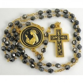 Damascene Gold Thorn Communion Rosary