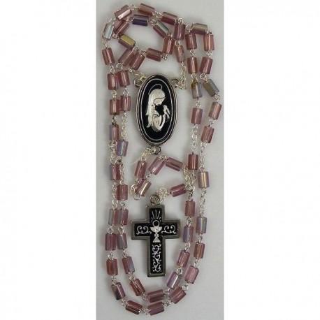 Damascene Silver Chalice Rosary