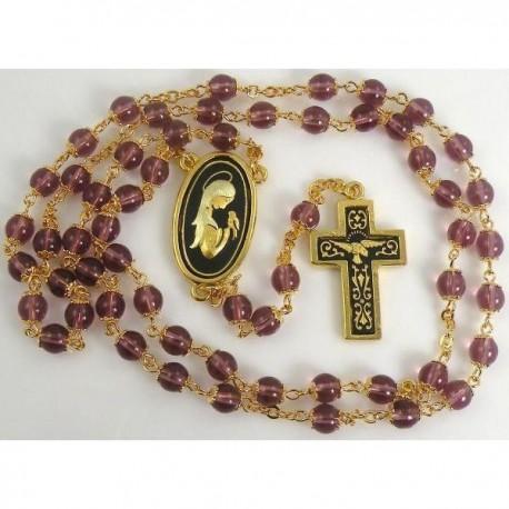 Damascene Gold Bird Rosary