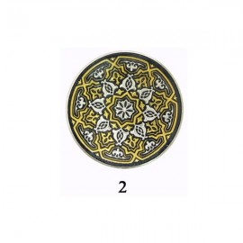 Damascene Adorned Collectible Dish