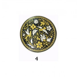 Damascene Birds of Paradise Collectible Dish
